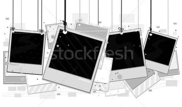 Foto stock: Foto · marcos · diseno · blanco · camino