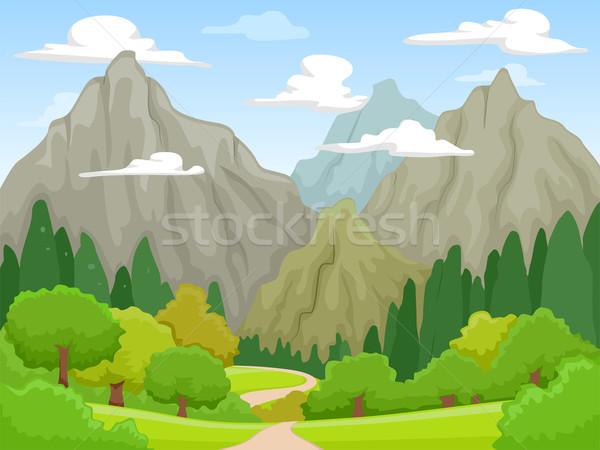 горные декораций иллюстрация мирный гор видимый Сток-фото © lenm