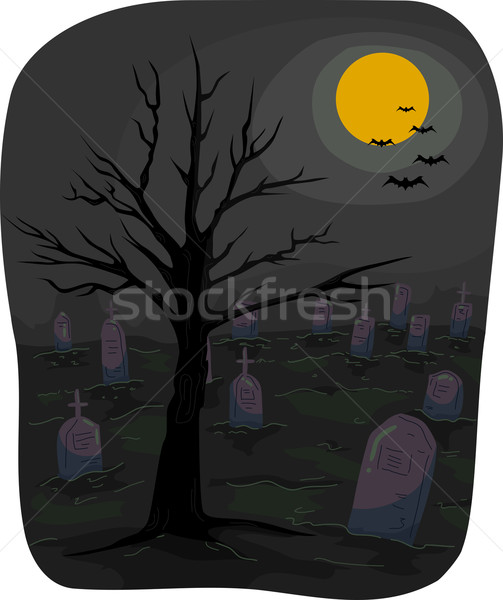 Halloween Graveyard Stock photo © lenm