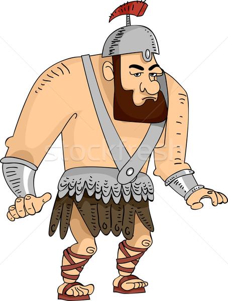Gigante gladiador ilustração enorme romano masculino Foto stock © lenm