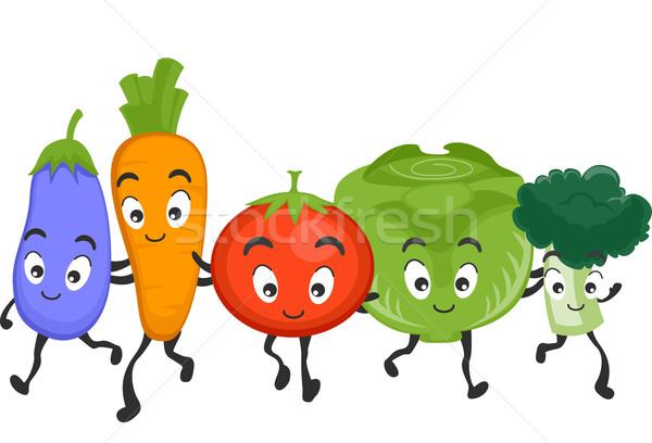 Veggies Mascots Stock photo © lenm