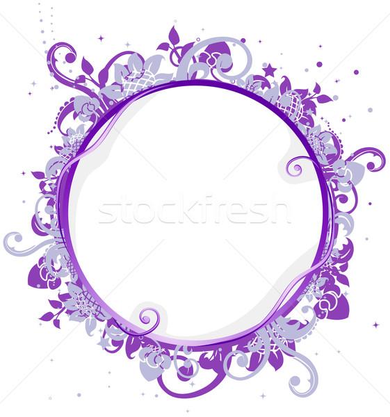 Körkörös keret illusztráció kör keret szőlő Stock fotó © lenm