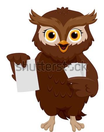 Owl Laptop Stock photo © lenm