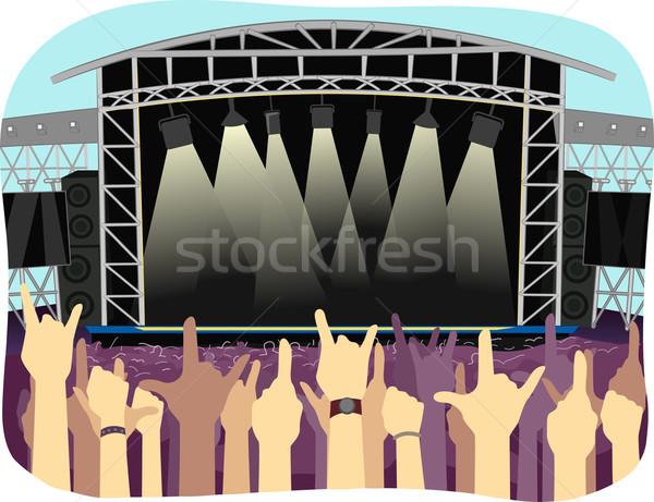Concert Venue Day Stock photo © lenm