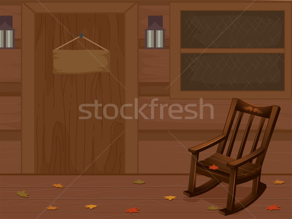 Scene Cabin Rocking Chair Stock photo © lenm