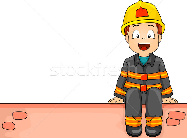 Firefighter Boy Stock photo © lenm