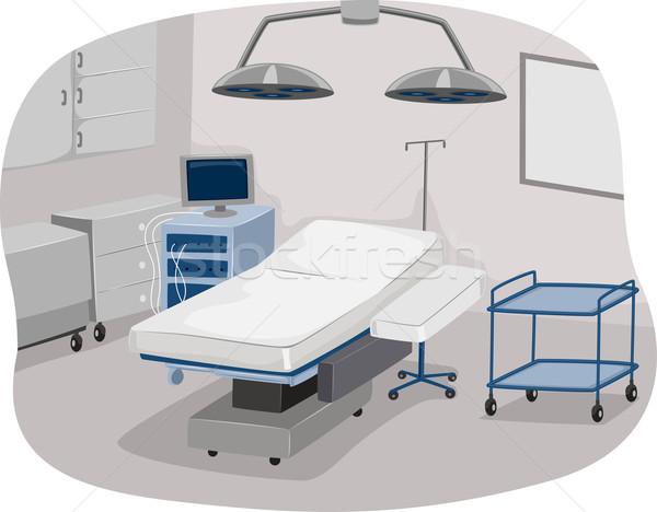 Sala de operaciones ilustración mesa quirúrgico Foto stock © lenm