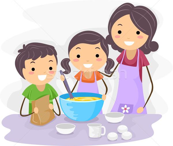 Family Baking Stock photo © lenm