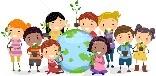 Stok fotoğraf: Kültürel · çeşitlilik · örnek · çocuklar · farklı · etnik