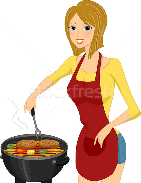 Stock photo: Grill Girl