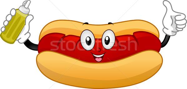 Hotdog szendvics kabala illusztráció remek étel Stock fotó © lenm