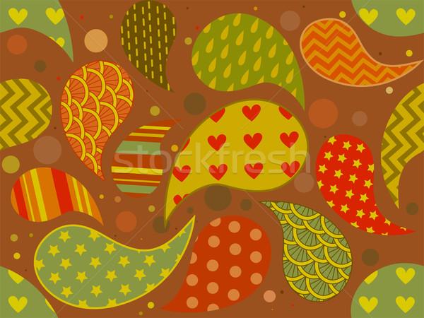 Seamless Paisley Pattern Stock photo © lenm
