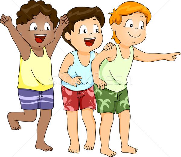 Beachwear Boys Stock photo © lenm