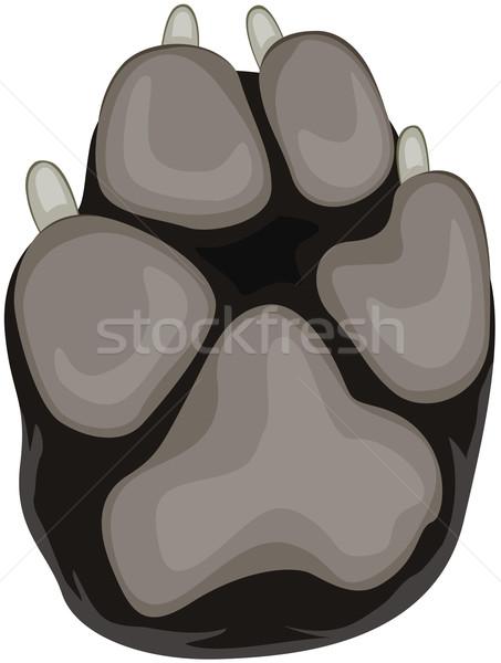 Cão pata prego desenho animado animal de estimação Foto stock © lenm