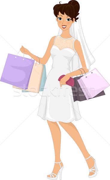 Wedding Shopping Stock photo © lenm