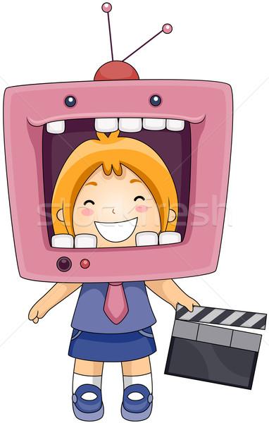 TV Head Stock photo © lenm