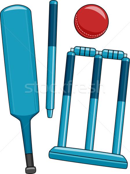 クリケット 実例 異なる 中古 スポーツ ストックフォト © lenm