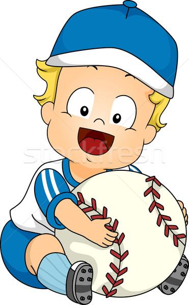 Baseball baby illustrazione cute gigante Foto d'archivio © lenm