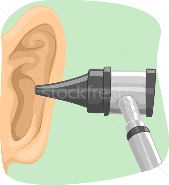 Doctor Ear Otoscope Stock photo © lenm