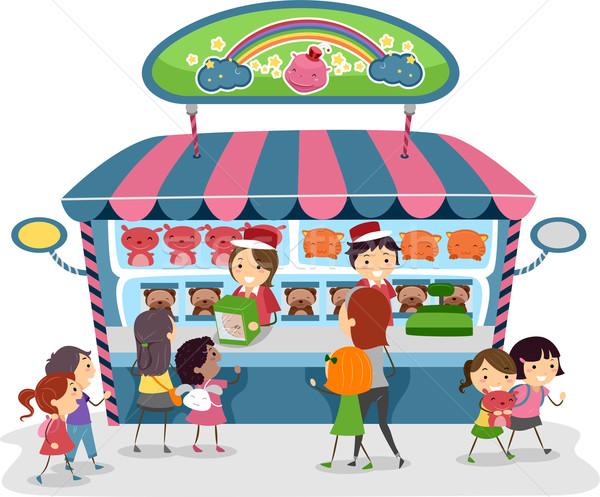 実例 子供 買い おもちゃ ストア 子 ストックフォト © lenm