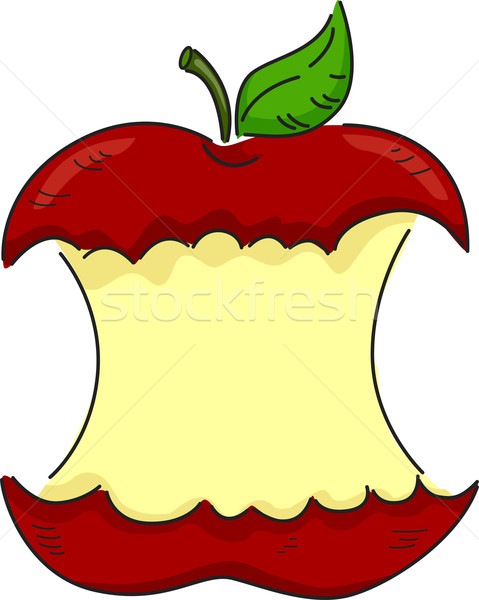 Bitten Apple Stock photo © lenm