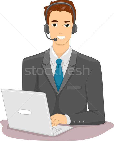 Online Job Man Stock photo © lenm