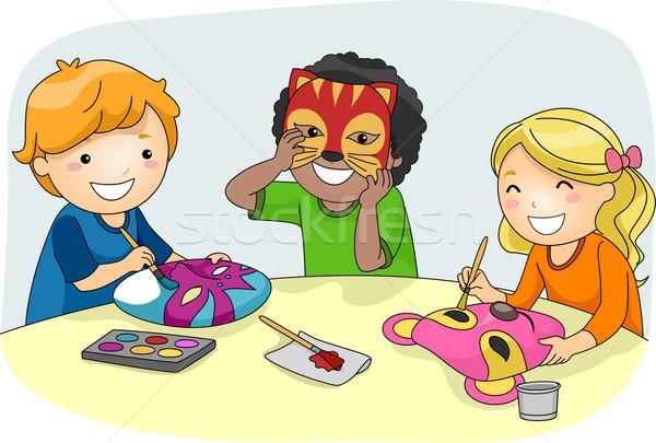 Детские картинки дети делают поделки