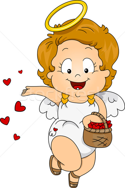 Female Baby Cupid Stock photo © lenm