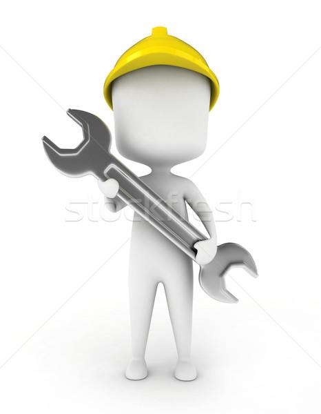 Сток-фото: механический · инженер · 3d · иллюстрации · большой · работу
