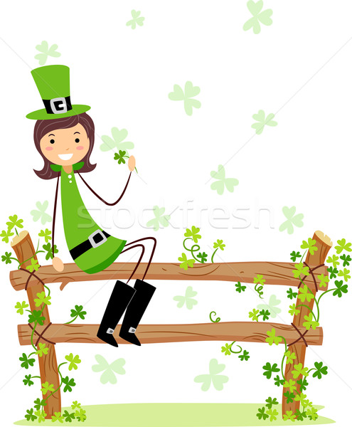 St. Patrick Girl Stock photo © lenm