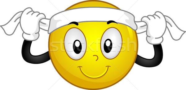 Headband Smiley Stock photo © lenm