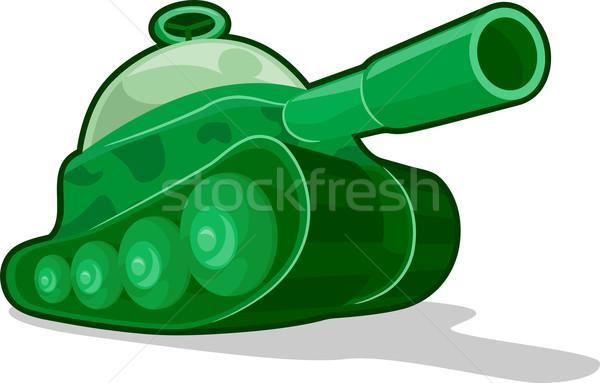игрушку цистерна иллюстрация зеленый военных дети Сток-фото © lenm