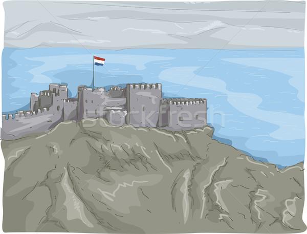 Castle of Saladin Stock photo © lenm