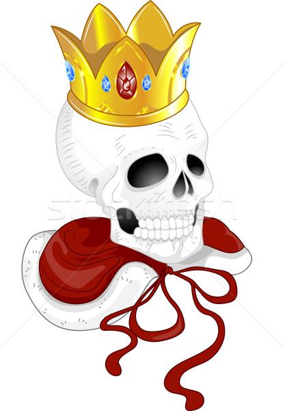 Skull King Tattoo Stock photo © lenm