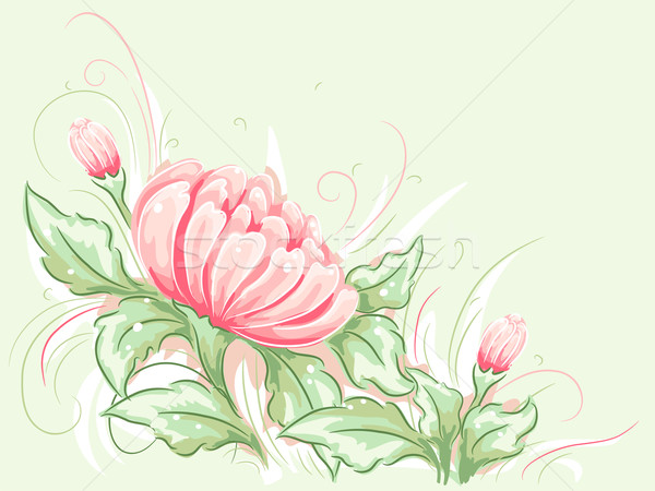 Minable fleur design illustration eau Photo stock © lenm