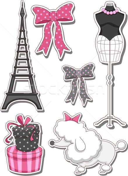 パリ デザイン 要素 実例 異なる 黒 ストックフォト © lenm