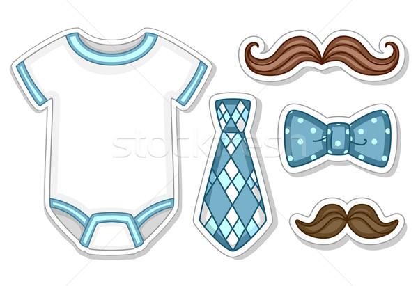 Baby Boy Design Elements Stock photo © lenm