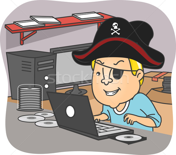 Man Pirate Stock photo © lenm