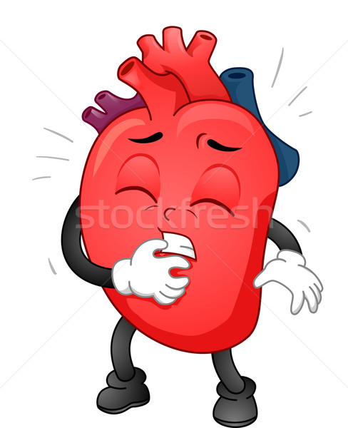 Mascotte hartaanval illustratie hart medische gezondheid Stockfoto © lenm