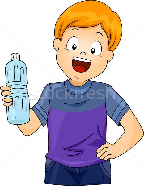 Kid Boy Plastic Bottle Stock photo © lenm