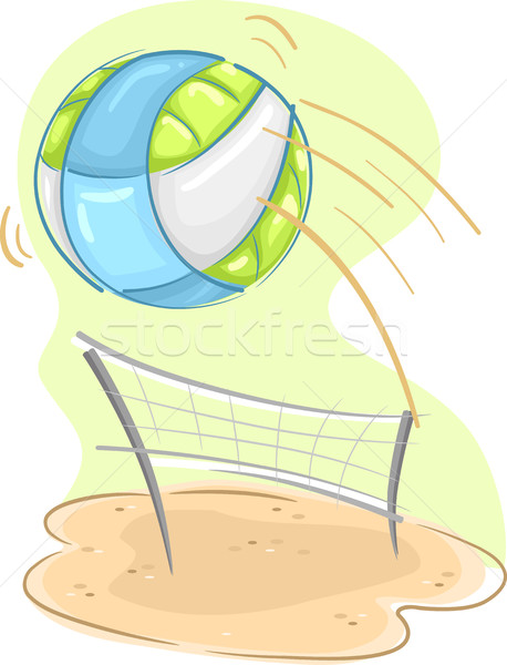 Sport Strand Volleyball net Illustration Sport Stock foto © lenm