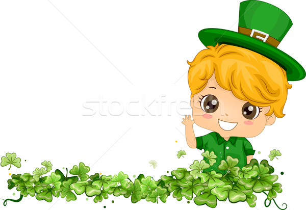 Shamrock Border Stock photo © lenm