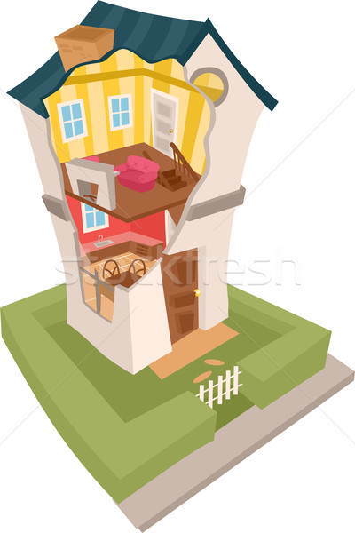 House in Cross Section  Stock photo © lenm