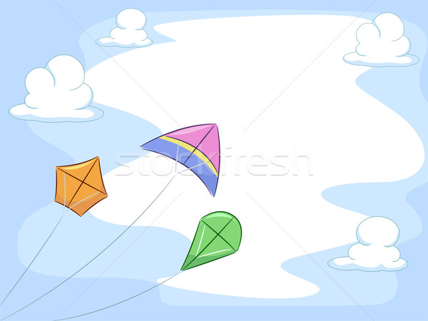Kites Background Stock photo © lenm