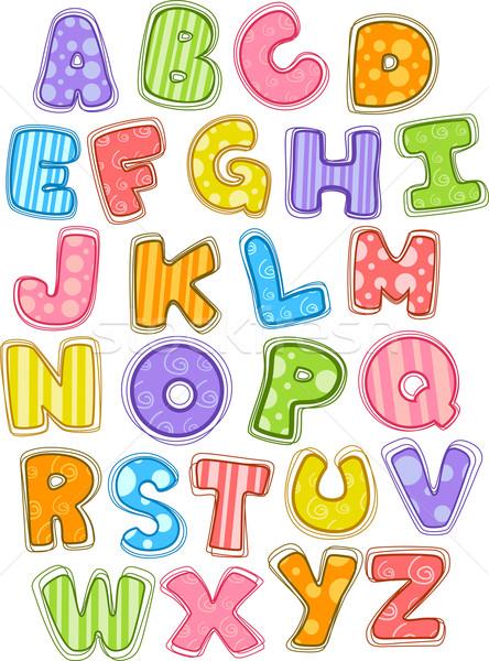 Cute Alphabet Capital Letters Stock photo © lenm