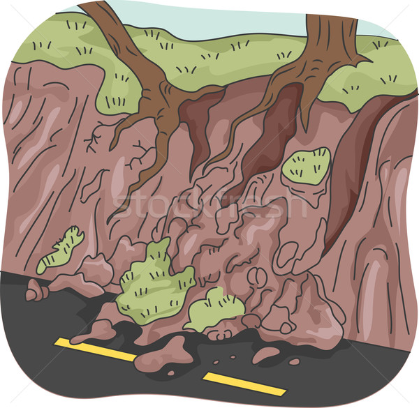 Landslide Stock photo © lenm