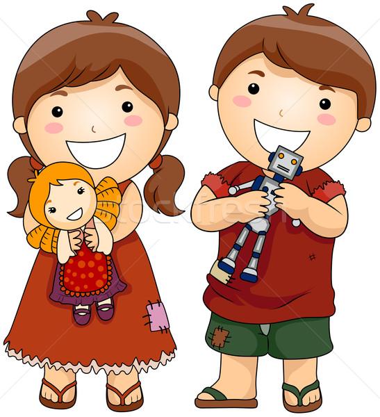 Geschenk speelgoed jammer kinderen nieuwe Stockfoto © lenm