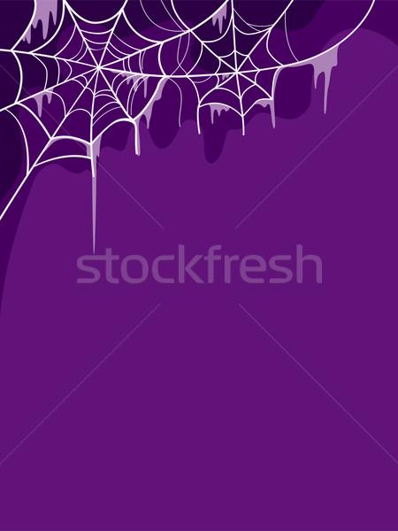 Halloween illustratie ontwerp achtergrond vakantie cartoon Stockfoto © lenm