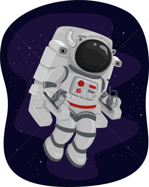 Astronauta jednostka ilustracja sposób przestrzeni nauki Zdjęcia stock © lenm