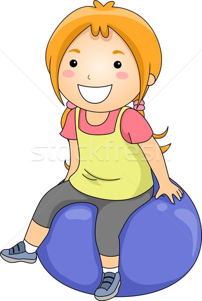 Exercise Ball Girl Stock photo © lenm